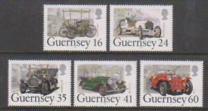 Guernesey-1994-Premier-Voiture-En-Guernesey-Ensemble-MNH-Sg-639-43