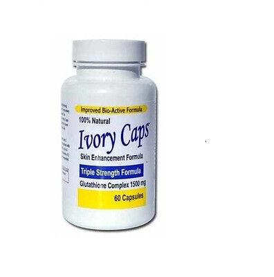 Ivory Caps Skin Whitening Max Glutathione 1500 mg Pills Pill Ivorycaps, Unisex