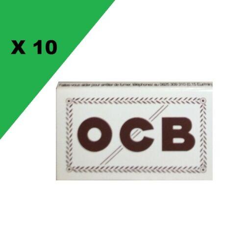 OCB courte double blanche lot de 10 carnets de feuille a rouler