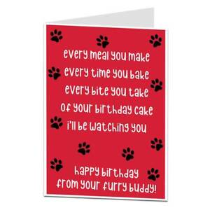 Image Is Loading Funny Happy Birthday Card From The Dog Pet