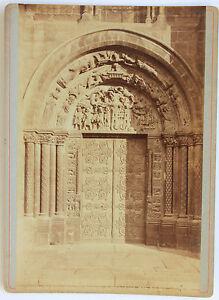 Abbaye-Basilica-Saint-Denis-Porta-Meridionale-Vintage-Albumina-1880