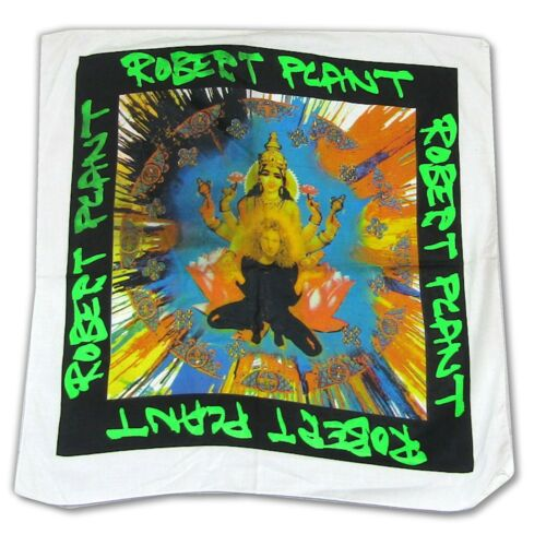 Robert Plant Mandala White Bandana Vintage NOS Official Band Merch Led Zeppelin