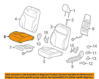 Front Honda Genuine 81131-TR3-A21ZA Seat Cushion Trim Cover Right