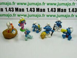LOT5-Figurine-PVC-schleich-6-SCHTROUMPF-smurf-puffi-pituffo