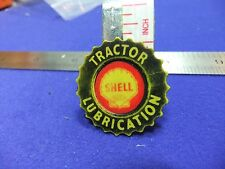 vtg badge shell tractor lubricant farm machinery 1960s advert plastic oil petrol