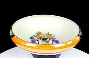 """NORITAKE JAPAN ORANGE & WHITE FRUIT IN URN 6 7/8"""" CUPPED BOWL 1924-1935"""