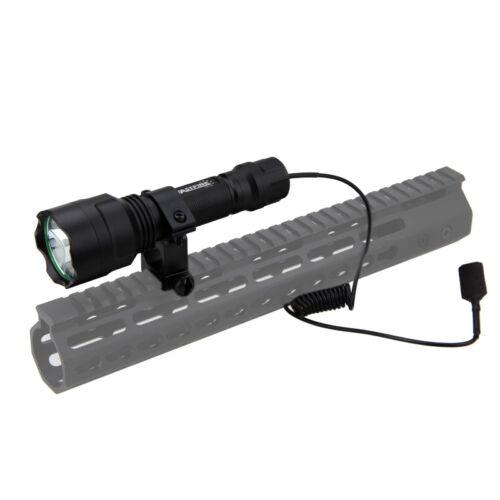 Taktisch Jagdlampe Set Grünlicht LED Taschenlampe mit Fernschalter 18650 AKKU DE