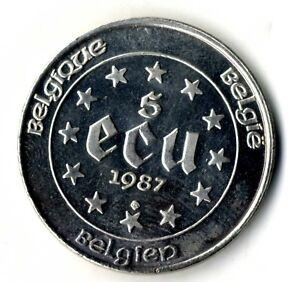 Moneda-Belgica-Carlos-V-5-Ecus-plata-833-ano-1987