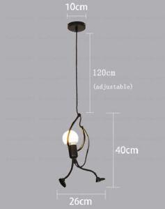 Details About Art Villain Pendant Lamps Simple Creative Design Iron Light Funny Robot Lamp