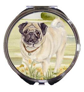 PUG-DOG-LADIES-COMPACT-MIRROR-DESIGN-SANDRA-COEN-WATERCOLOUR-PAINTING-PRINT