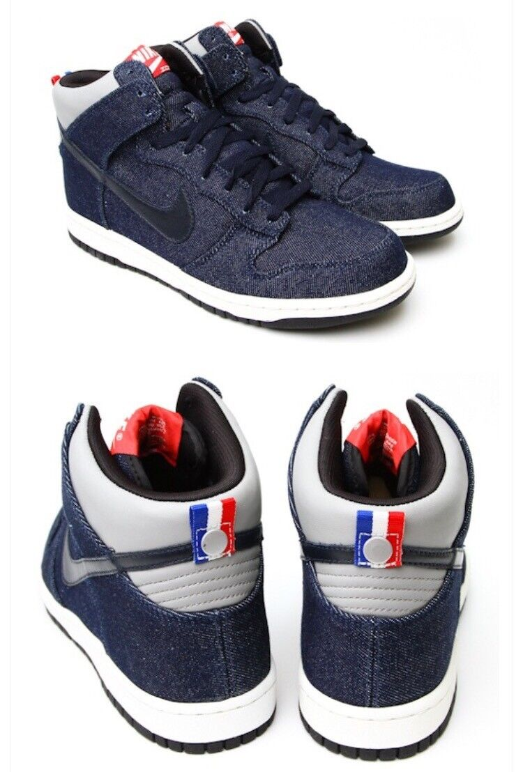 Nike dunk french football federation denim rare collection size 9 NIB deadstock