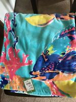 Pool Party Lilly Pulitzer Beach Towel Shorely Blue Sandstorm Size 30 X 60