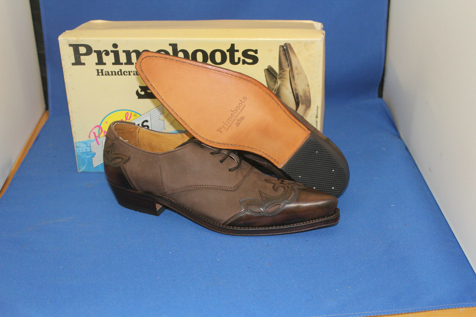 prime boots westernstiefel halbschuh cowboyboots  schnürrschuh braun  neu  cowboyboots gr. 38 b2d613