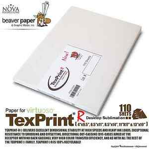 Details about Sublimation Transfer Paper *** Texprint R *** Pack of 110  Sheets