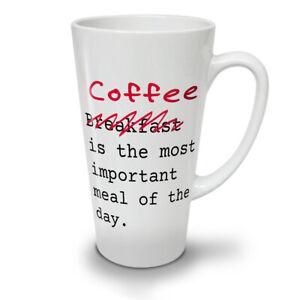 Coffee Important NEW White Tea Coffee Latte Mug 12 17 oz | Wellcoda