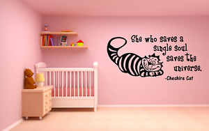 Cheshire Cat Alice In Wonderland Wall Decal Sticker Vinyl For Car Home Kitchen