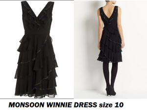 BNWT MONSOON Winnie dress tiered layered bead embellished evening occasion