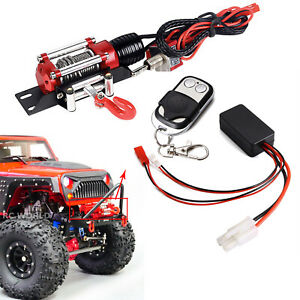 Remote Control MeterMall Automatic Winch Wireless Remote Controller Receiver for 1//10 RC Crawler Car Axial SCX10 TRAXXAS TRX4 D90 TF2 Tamiya CC01 Electric Winch red