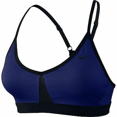 NIKE Pro Indy Color Block Dri Fit Sports Bra Royal Blue/Black NWT size XSmall