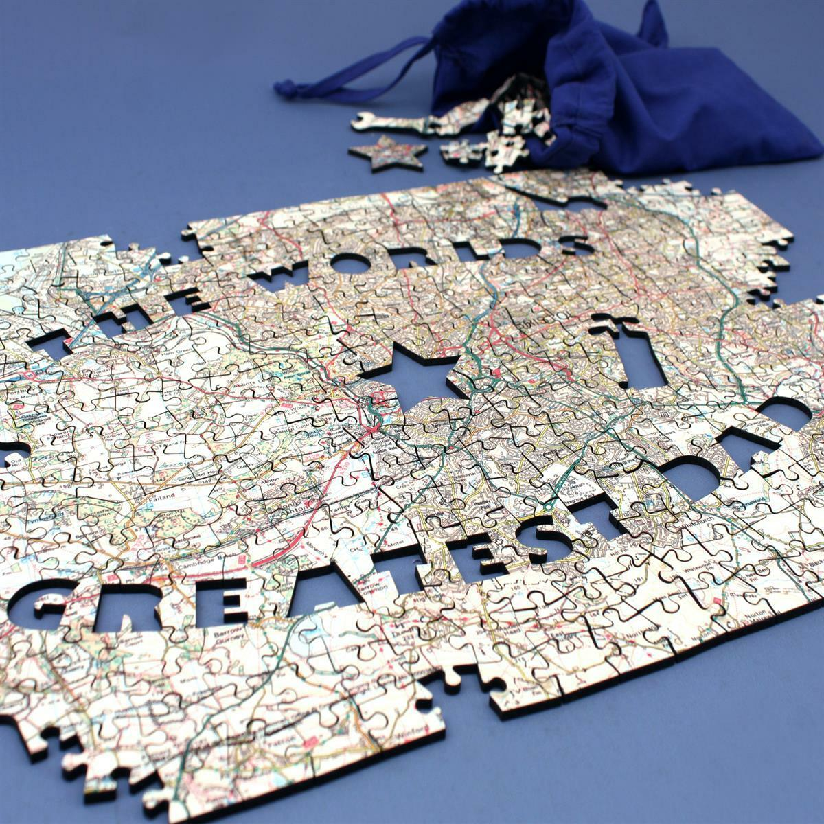 Personalised Best Dad in The World Jigsaw Puzzle