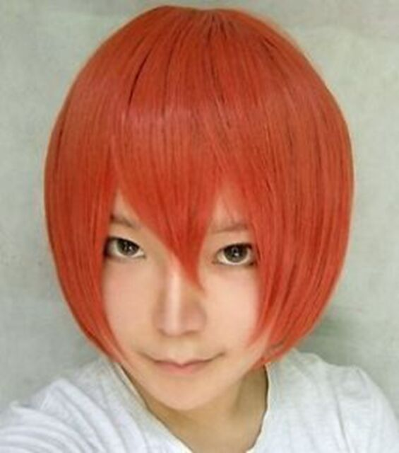 Sexy Lady Short Orange Fashion Straight Hair Cosplay Everyday Party Full Wigs