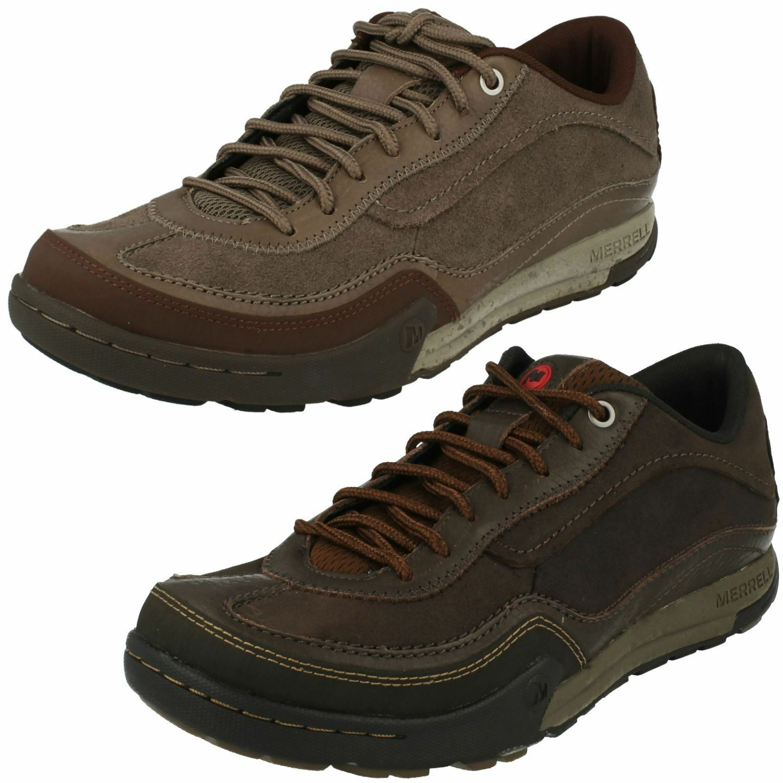 MENS MERRELL MOUNTAIN DIGGS LEATHER LACE UP HIKER WALKING TRAINERS CASUAL SHOES