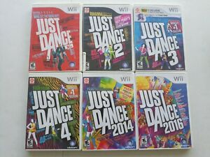 Just Dance 6 Game Lot 1 2 3 4 2014 and 2016 Nintendo Wii USA Working party time!