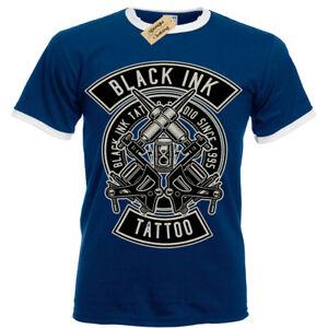 Black-Ink-Tattoo-T-Shirt-tattooist-artist-Mens-RInger