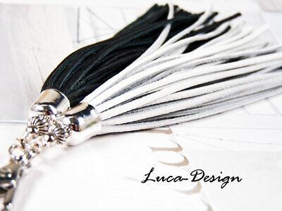 Lederquaste swirl Quaste Leder Leather Tassel Troddel Bommel Puschel Fransen