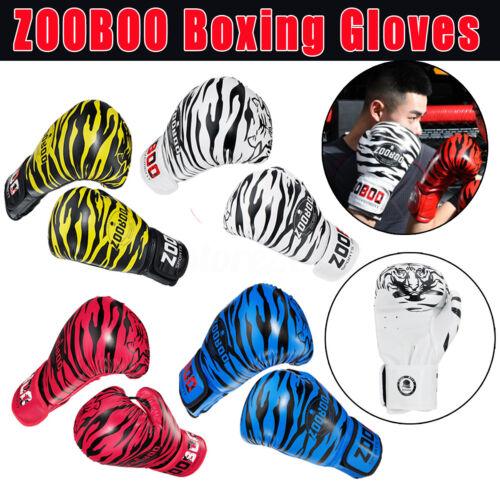 Boxing Gloves Training Muay Thai Sparring Punching Kickbox Fighting Mitts PU I