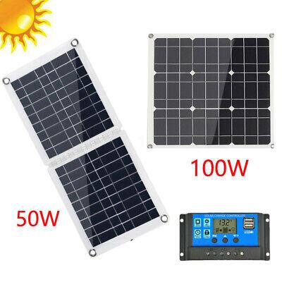 Solarpanel Solarmodul 50W 50Watt 12V Solarzelle Inselanlage Wohnmobil Wohnwagen