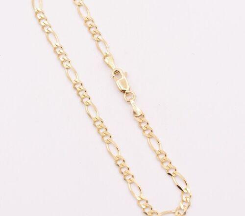 "3.5mm Royal Figaro Solid Link Ankle Bracelet Anklet Real 10K Yellow Gold 8/""-12/"""
