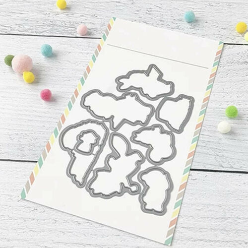 Dog Pig Mouse Clear stamps And Coordinating Cutting Dies Metal Diy Scrapbooking
