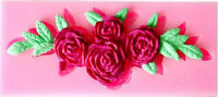 Roses Flower Spray Silicone Mold For Fondant, Gum Paste, Chocolate, Crafts -