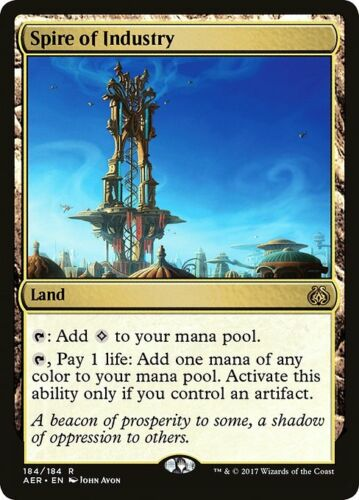 1x Spire of Industry NM Pack Fresh English Aether Revolt MTG Magic