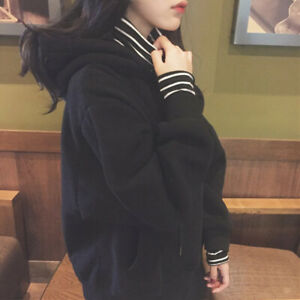 Women-Sweatshirt-Thicken-Hoodies-Fake-Two-Piece-Striped-Warm-Long-Sleeve-Tops-CP