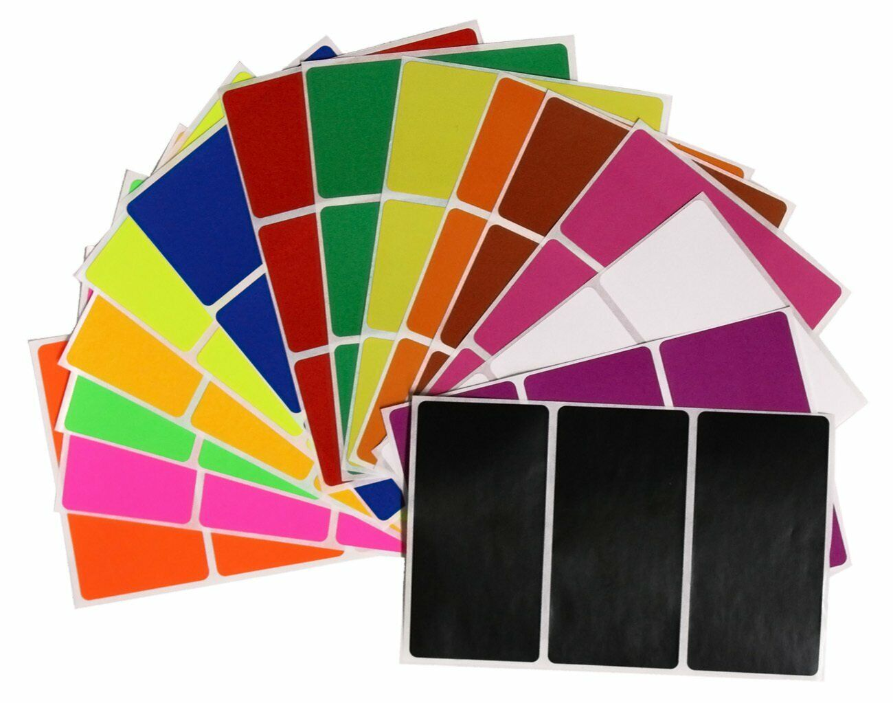 Rectangular Color Coding Moving Labels Name Tag Badges Colorful Marking Stickers