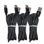 miniature 2 - 10ft USB C Fast Charger Cable Lot Type C Charging Cord For SamsungS8 S9 S10 Note