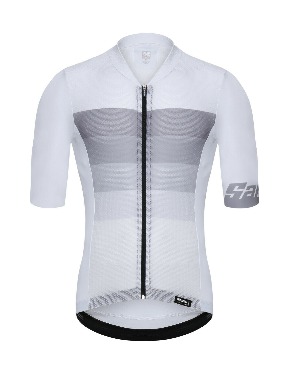 2019 Men's Tono Cycling Jersey - White - by Santini - Made in