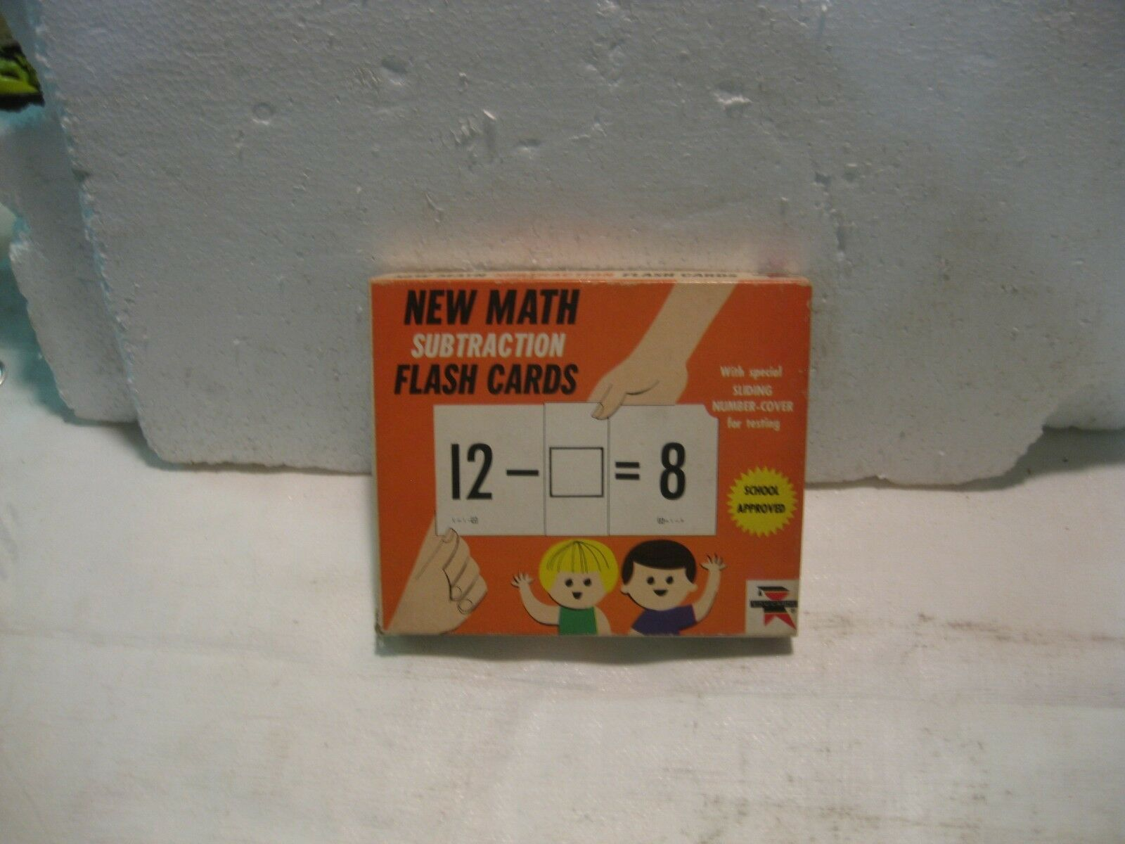 The New Math Soustraction Flash Cartes 1966 Math Jeu de Education Cards gm157