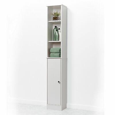 Narrow Linen Tower 5 Shelf Cabinet Bathroom Adjustable