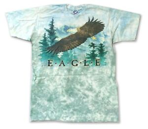 Liquid-Blue-American-Bald-Eagle-Tie-Dye-T-Shirt-New-Official-NOS-USA