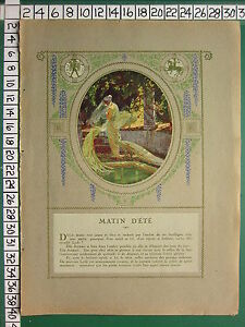 C1930 Francese Stampa L'Illustrazione ~ Matin D'Ete ~ Estate Morning