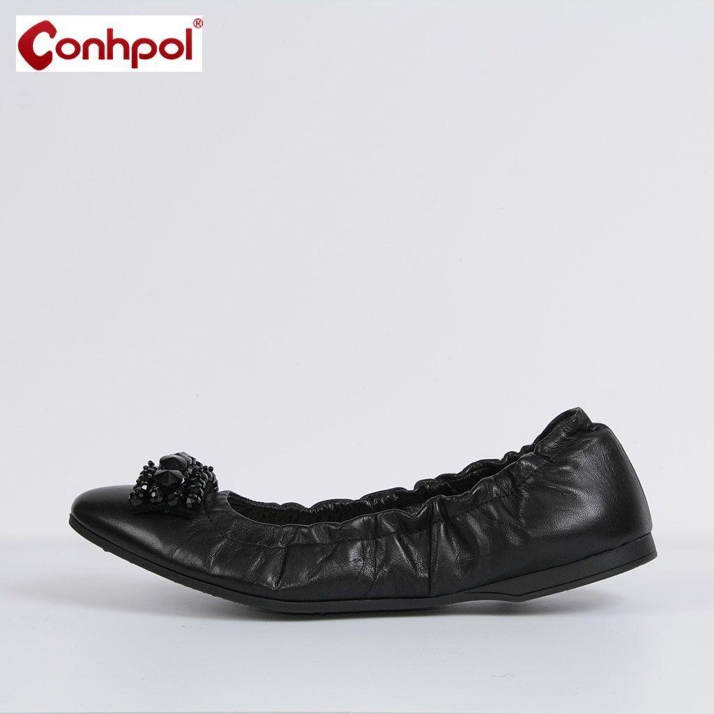 Damen Schuhe Halb Schuhe Damen Ballerinas  Slipper Schwarz Neu Leder 37 38 39 40 c73130