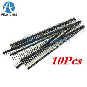 10PCS-40Pin-2-54mm-Single-Row-Right-Angle-Pin-Header-Strip-Arduino-kit