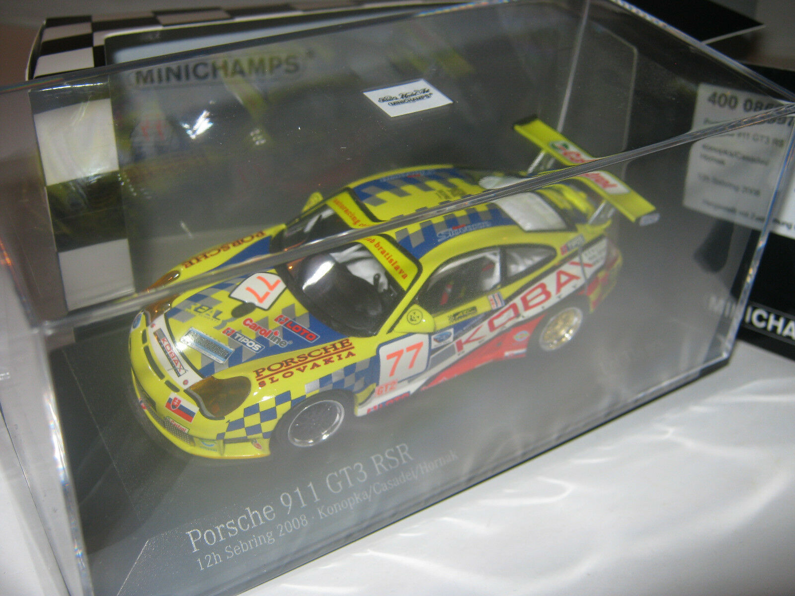 1 43 Porsche 911 gt3rs konopka 2008 Minichamps 400086977 New L.E. 1 of 336