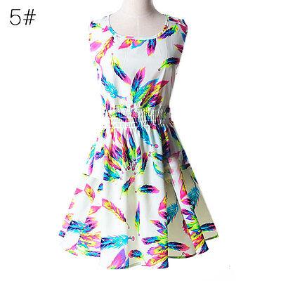 Women's Sexy Chiffon Skirt Sleeveless Pleated Mini Dress Evening Cocktail Dress