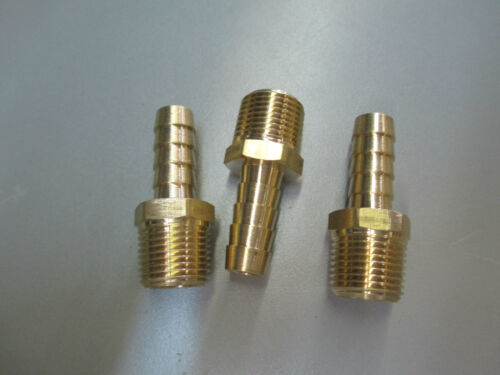 3pack 1//4 MPT x 3//8 BARB ADAPTER BRASS,