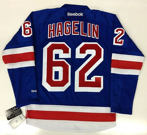 best service 856e9 f00bf Details about CARL HAGELIN NEW YORK RANGERS REEBOK NHL PREMIER HOME JERSEY  LARGE