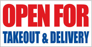 Take Out Open Banner Sign
